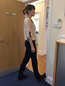 Picture shows chiropractor Victoria White doing the hamstring stretch