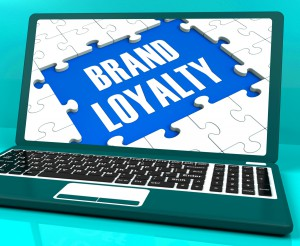 Brand Loyalty On Laptop Showing Successful Branding And Satisfaction Expertise