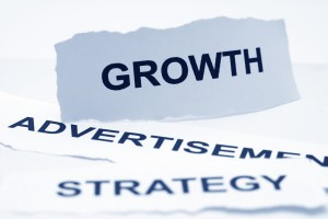 Growth advertisement strategy concept