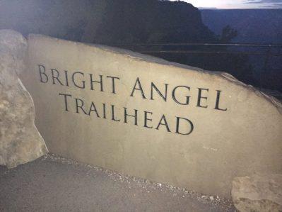 Sign at Bright Angel Trailhead