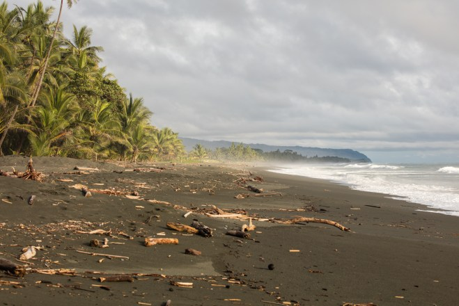 Costa Rica Black Sand Beach