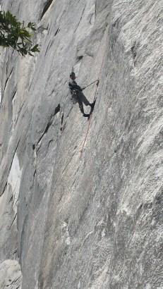 "Erick ""hanging out"" on El Cap."