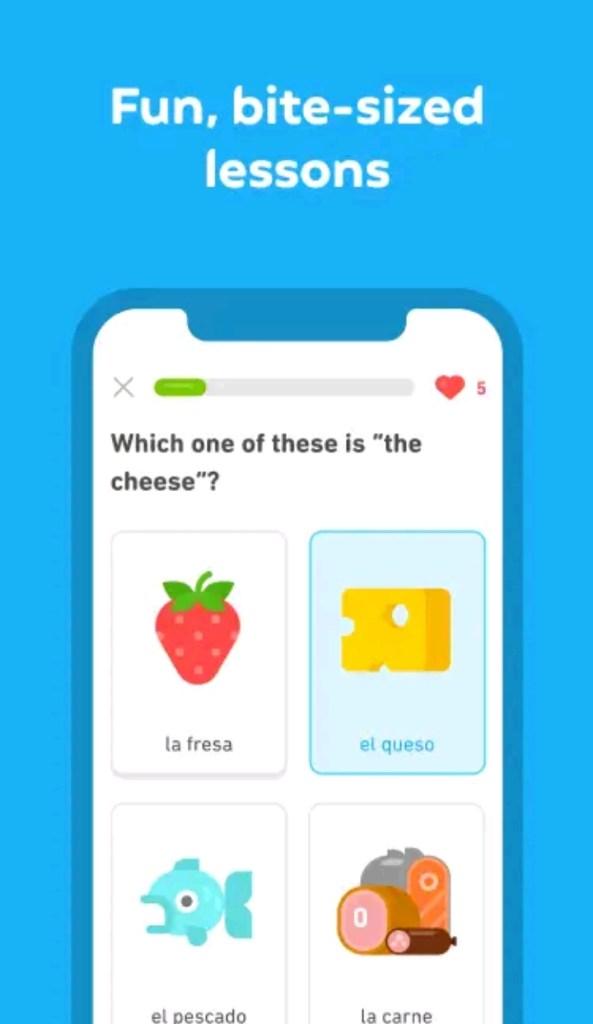 Duolingo english learning app
