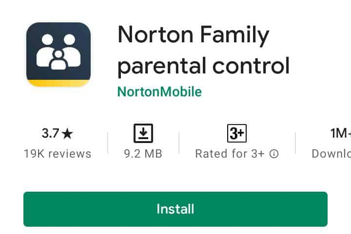 Norton family Control app 2021