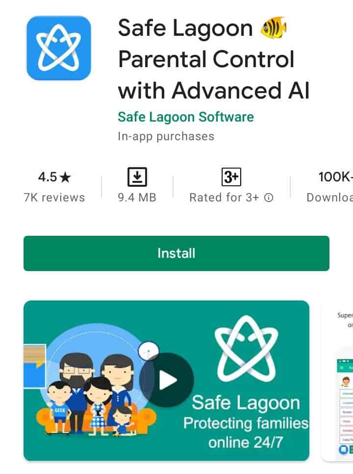 Safe lagoon- Parental Control app