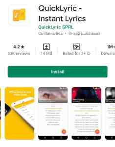 Quick Lyrics App