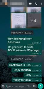 before changing font in whatsapp