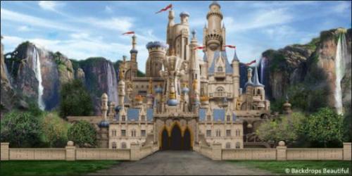 castle fantasy medieval backdrops backdrop castles painted backdropsbeautiful representation upon actual request scenic