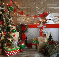 Frosted Christmas Window ~ Backdrops Canada
