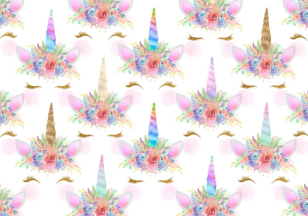 Baby Girl Floral Wallpaper Glitter Unicorn Crowns 3 Options Backdrops Canada