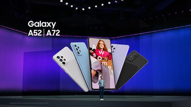 Samsung Galaxy A52, A52G, and A72