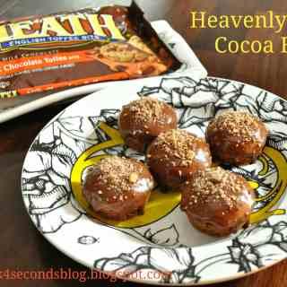 Heavenly Heath Cocoa Bites #toffee #chocolate #heath #mini