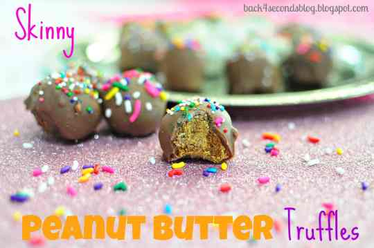 Skinny Peanut Butter Truffles by Back For Seconds