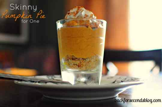 Skinny Pumpkin Pie for One by Back For Seconds    #singleserving #holiday #healthy