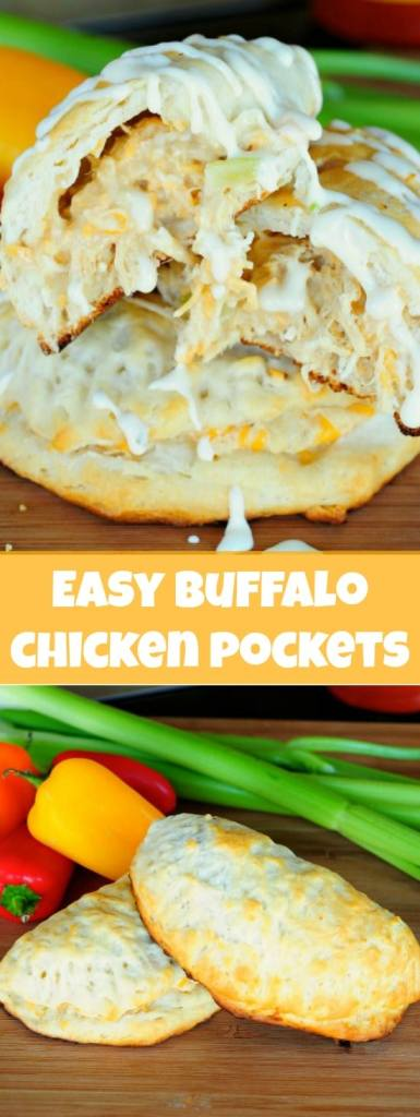 EASY Buffalo Chicken Pockets - these are major crowd pleasers!!