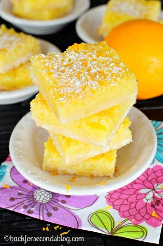Incredible Orange Pie Bars! So refreshing and super delicious! #orange #dessert #pie