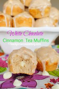 White Chocolate Cinnamon Tea Muffins