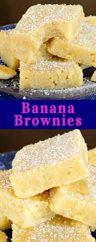 Banana Brownies collage photo