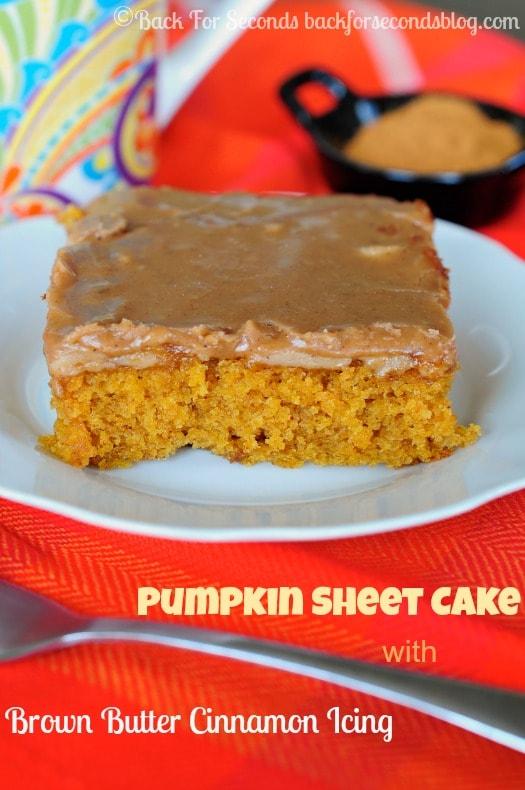 Pumpkin Texas Sheet Cake recipe