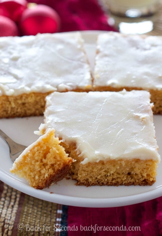 Easy Eggnog Texas Sheet Cake