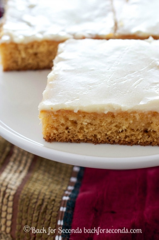 Eggnog Sheet Cake with Eggnog Icing - HOLY YUM!