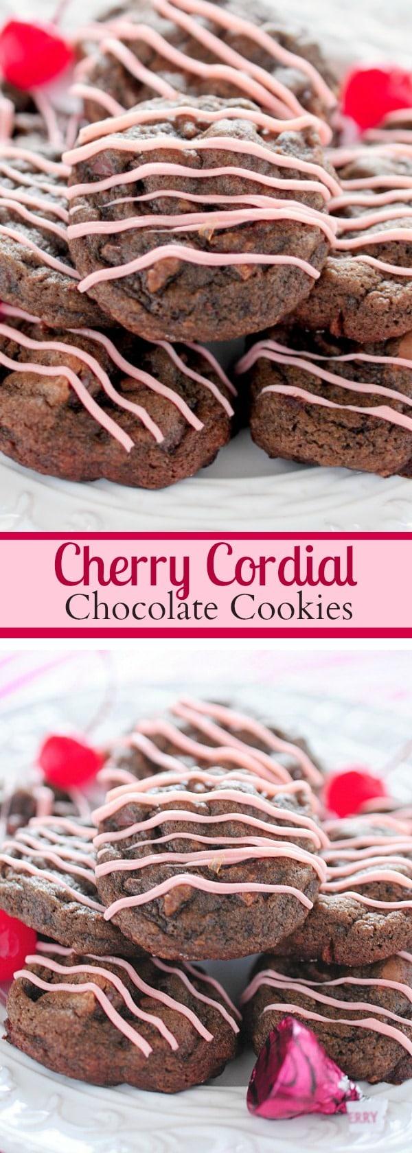 Cherry Cordial Chocolate Cookies