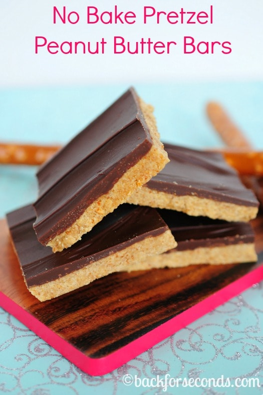 No Bake Pretzel Reese's Bars - Sweet and Salty and SO easy to make!
