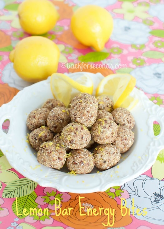 Skinny, No Bake, Lemon Pie Energy Bites - these are SUPER delicious!!