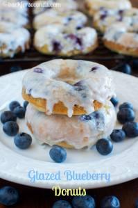 Glazed Blueberry Cake Donuts