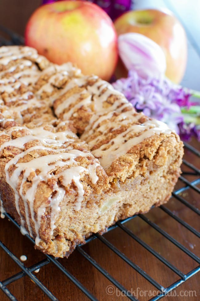 Easy Glazed Cinnamon Apple Bread - Seriously the BEST!!!!
