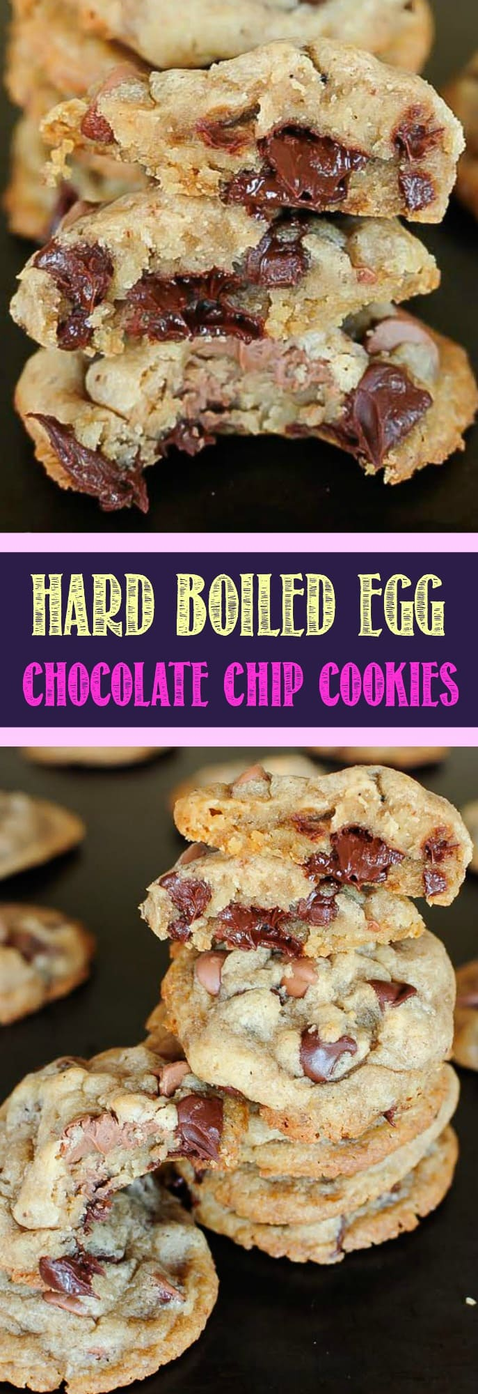 Hard Boiled Egg Chocolate Chip Cookies sound crazy, but honestly these are one of the BEST cookies I have ever eaten! These are an incredibly delicious way to use up all those extra Easter Eggs!