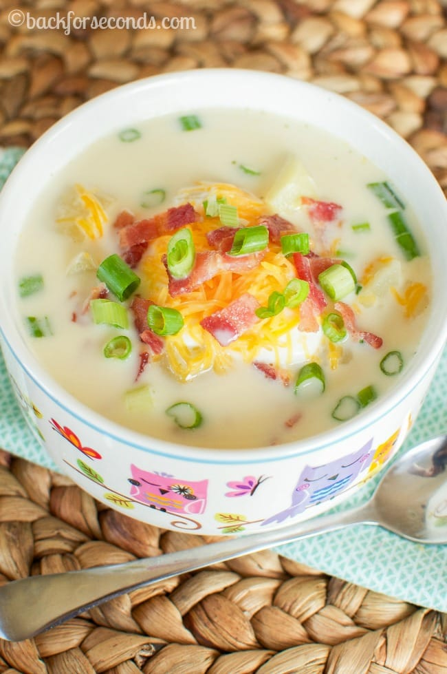 Loaded Baked Potato Soup with Bacon and Cheese