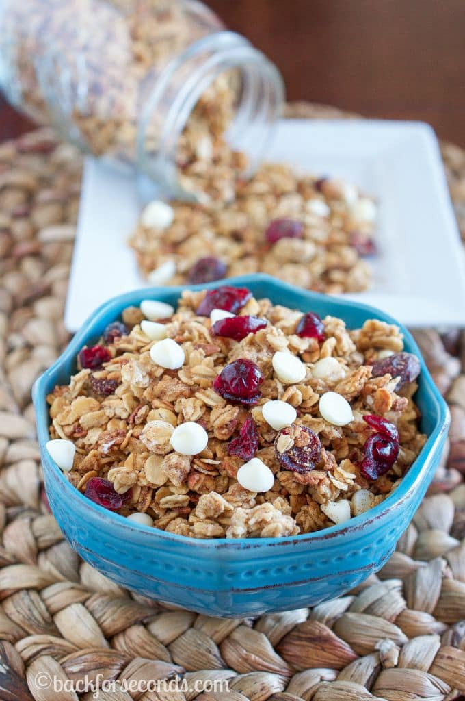 White Chocolate Cranberry Slow Cooker Granola