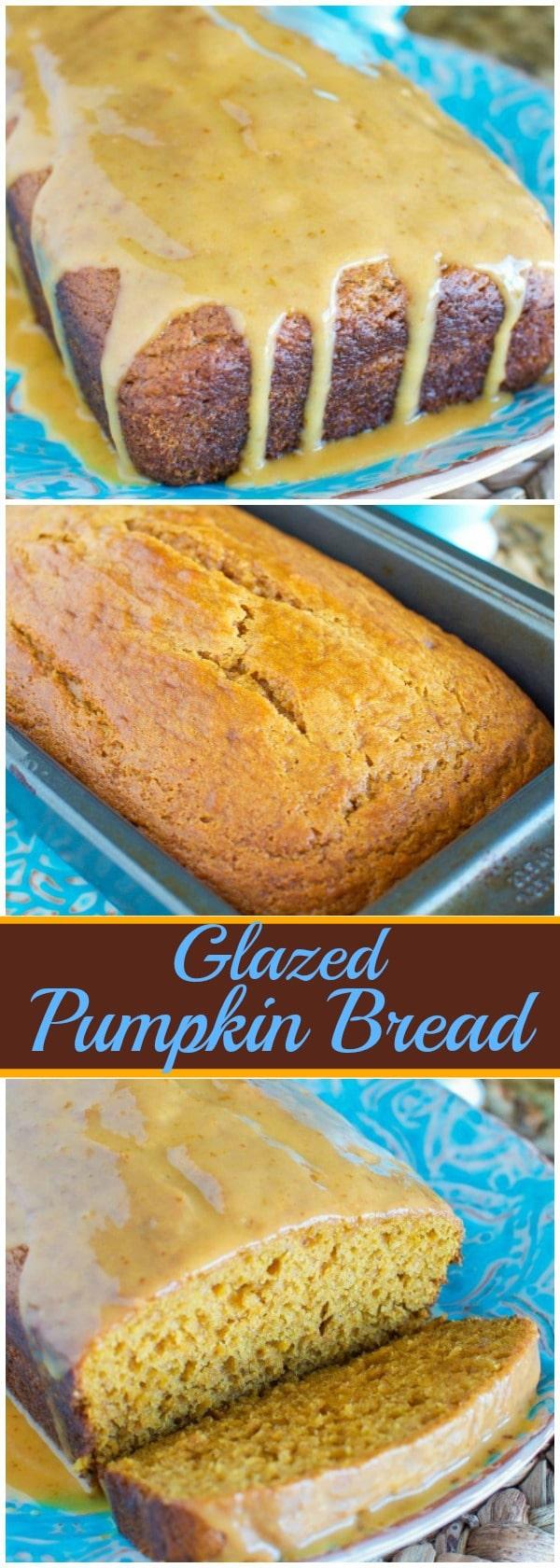 Glazed Pumpkin Bread - A MUST MAKE for fall!!