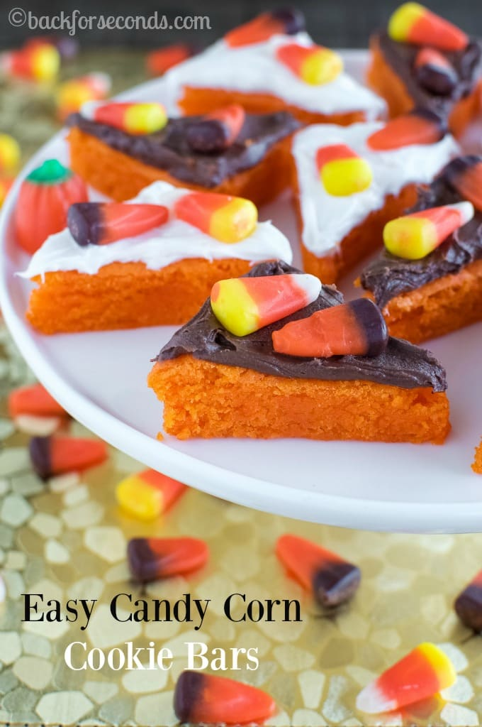 Soft and Chewy Candy Corn Cookie Bars