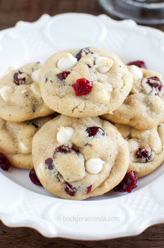 Brown Butter White Chocolate Cranberry Cookies. Delicious, Easy Christmas Cookies!