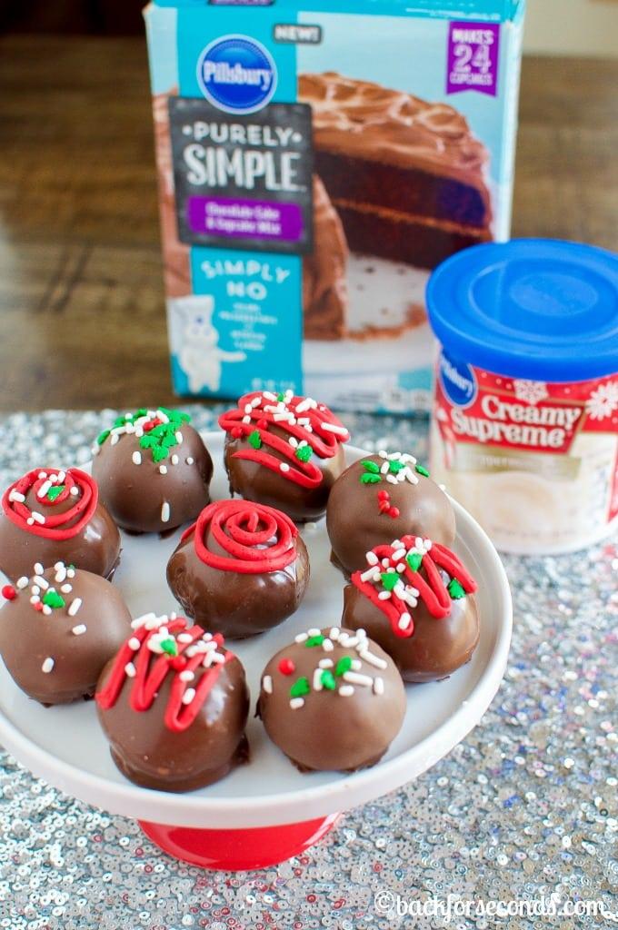 Chocolate Mint Cake Truffles
