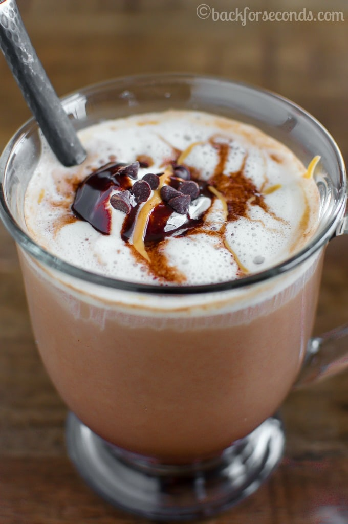Skinny Peanut Butter Mocha-save money AND calories by making this easy gourmet coffee at home!