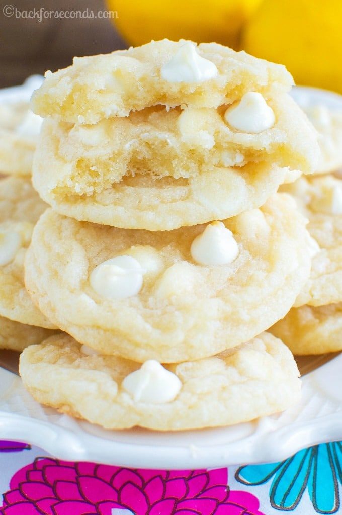 Chewy white Chocolate  LEMON Cookies