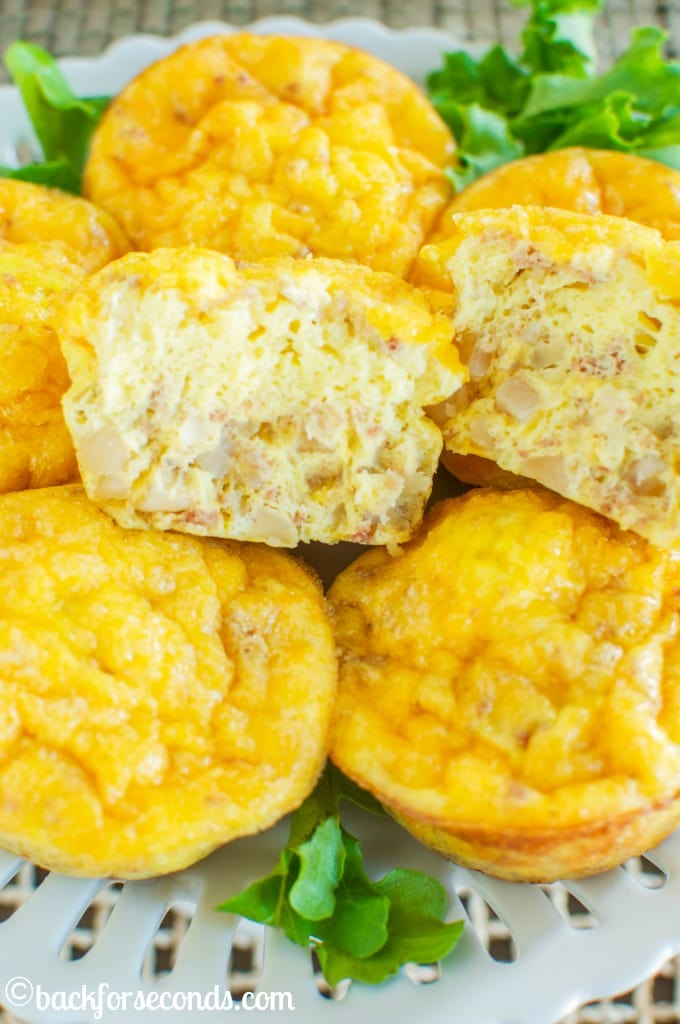 Easy Cheesy Egg Muffin Scrambles #Promotion