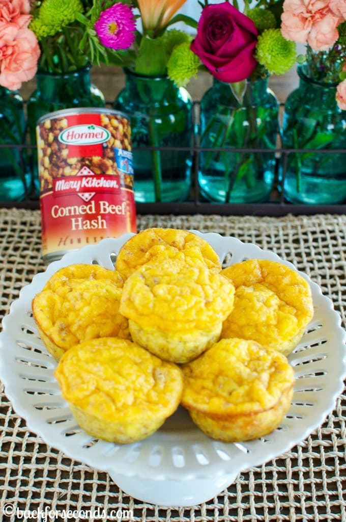 Easy Egg Muffin Scrambles with Corned Beef Hash #Promotion
