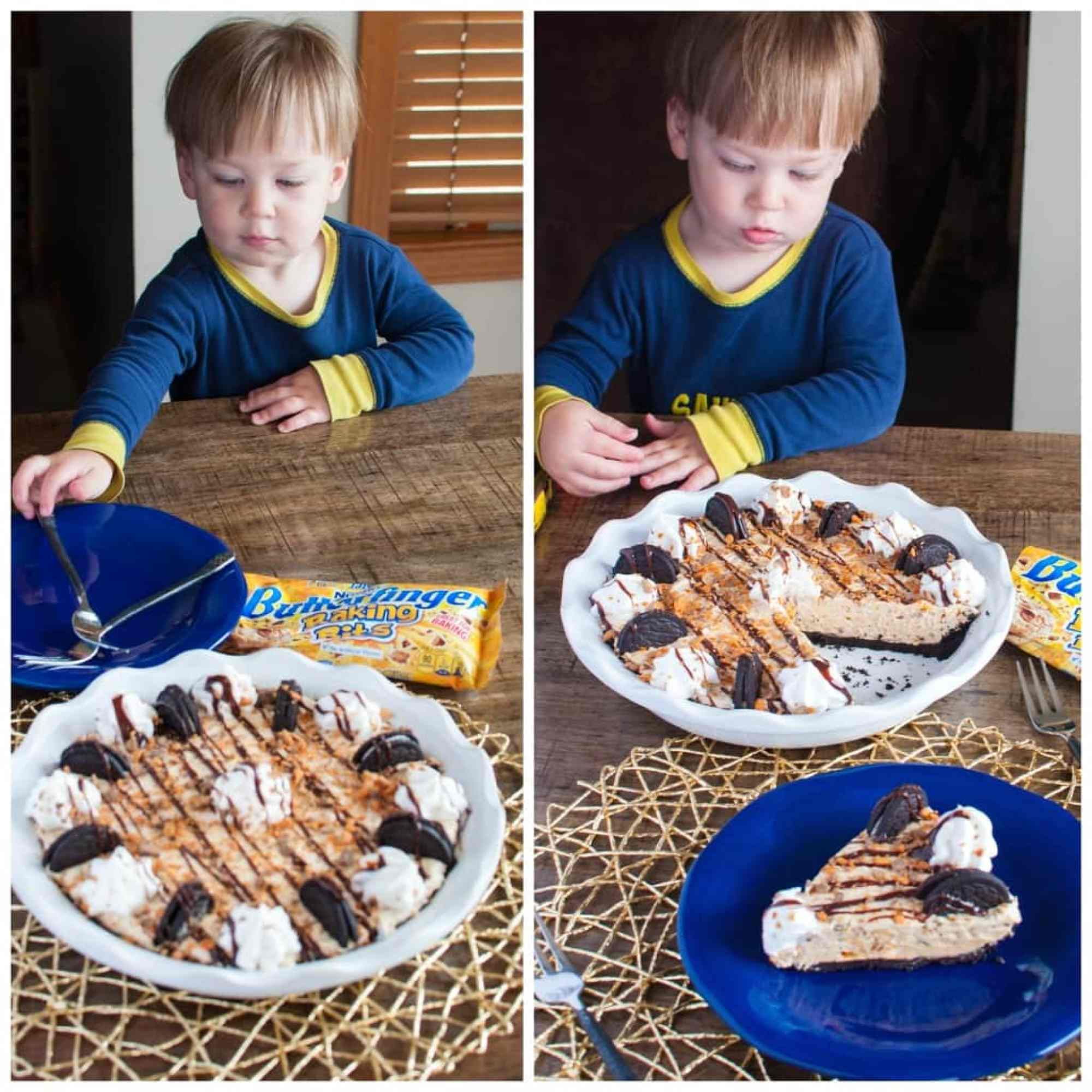 Even babies can't resist this no bake pie!