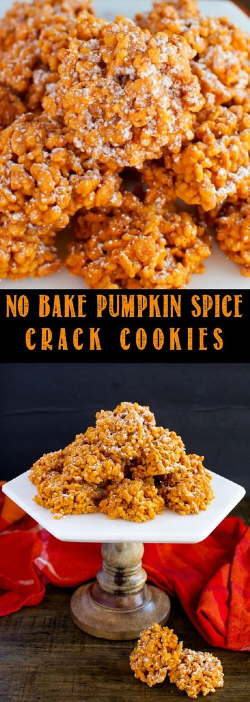 No Bake Pumpkin Spice Crack Cookies are a quick and easy fall dessert recipe that will have everyone going back for seconds! Great party or holidays snack!