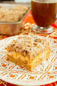 Pumpkin Cream Cheese Coffee Cake with Streusel