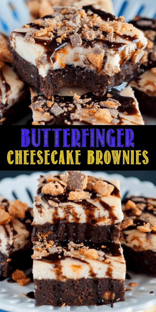 Butterfinger Cheesecake Brownies Recipe