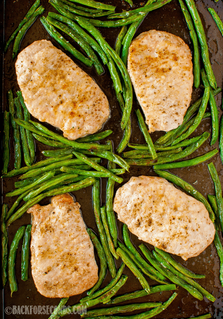 Sage Butter Pork Chop Sheet Pan Dinner