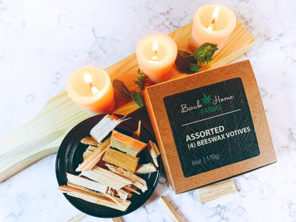 Vanilla & Sandalwood Beeswax Votives