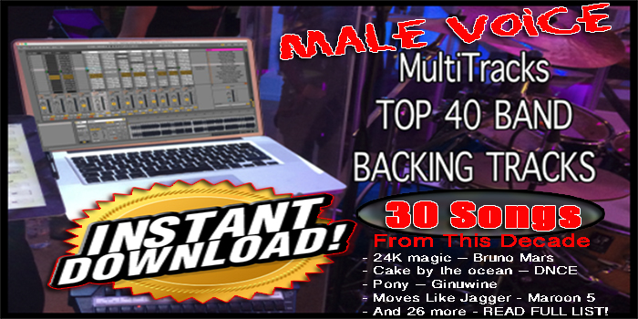30 Song Male Top 40 – This Decade – Instant Download – ABLETON BACKING  TRACKS
