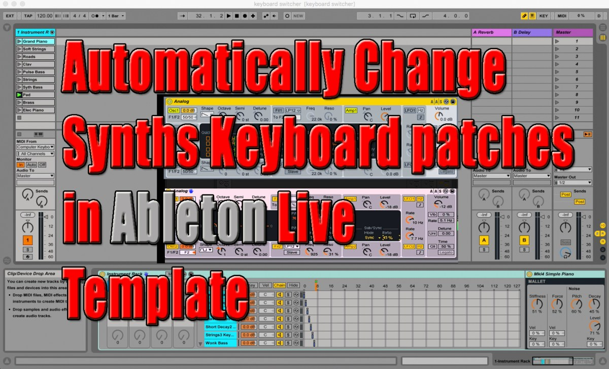automatically change synths keyboard patches in ableton live template custom backing tracks. Black Bedroom Furniture Sets. Home Design Ideas