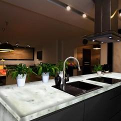 Onyx Kitchen Backsplash Rustic Countertops Chandler Construction Backlit Stone Sample Materials And ...